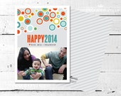 Happy New Year PHOTO CARD - Modern Dots from The Celebration Shoppe