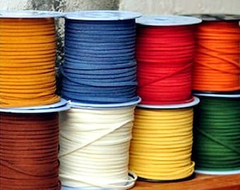 90M Suede Leather String Leather Ribbon Cords Hide Rope String for Crafts Bracelet/necklace DIY