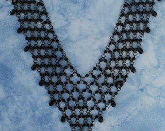 Vintage Gothic Black Bead Necklace