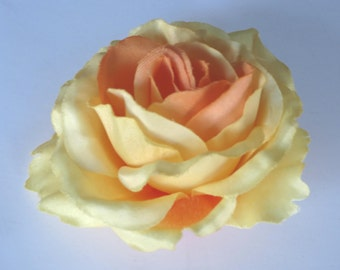 Yellow Orange Bridal Flower Hair Clip Wedding Hair Clip  Wedding Accessory Rose Bridal Hair Clip