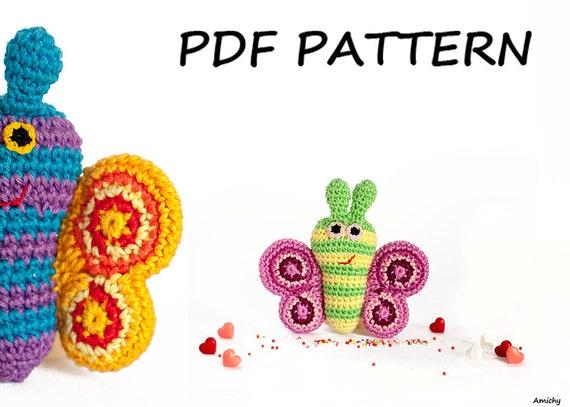 Amigurumi Butterfly Tutorial : Amigurumi Pattern Crochet Amimals Butterfly Tutorial from ...