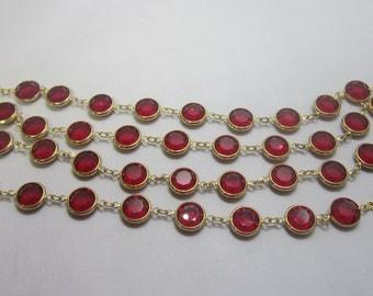 Swavorski Red Bezel Crystal Necklace