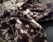 Dark Brown Paisley Pashmina Scarf Pashmina, Women Fashion Accessories, Fall Winter Scarves