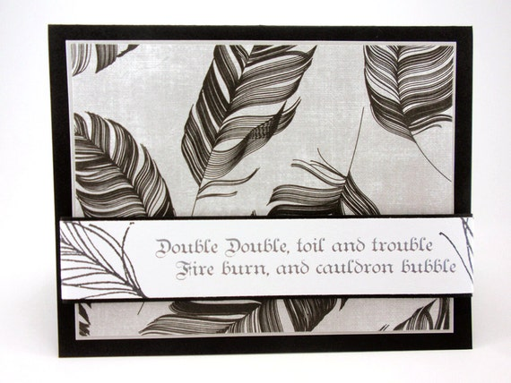 Double The Trouble Quotes: Witch's Brew Halloween Card Shakespeare's By