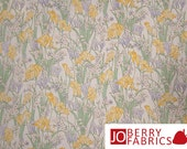 Pastel Floral Fabric, Day Lily Collection by Fabri-Quilt, Quilt or Craft Fabric, Fabric by the Yard