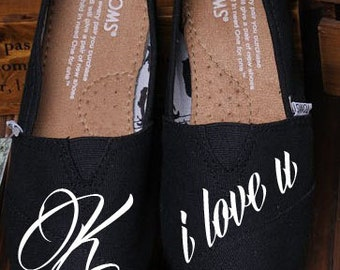 Custom Hand Painted TOMS - Monogrammed on TOMS Shoes