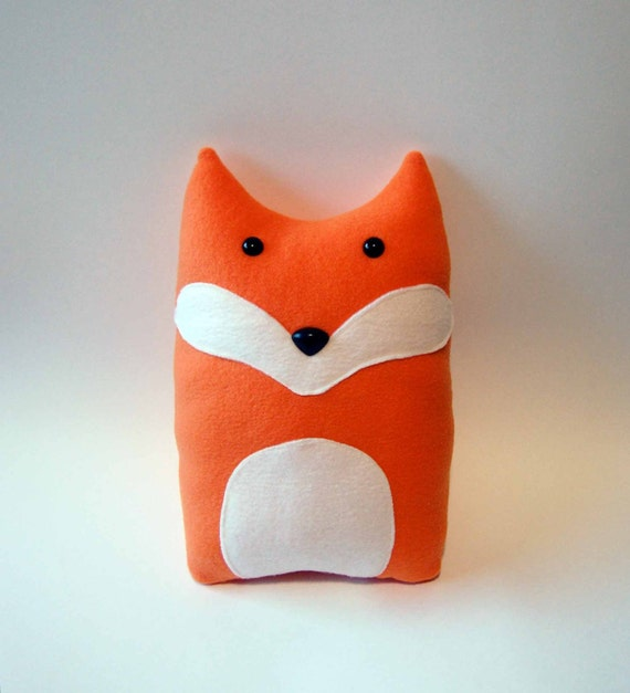 Fox pillow plush sewing pattern