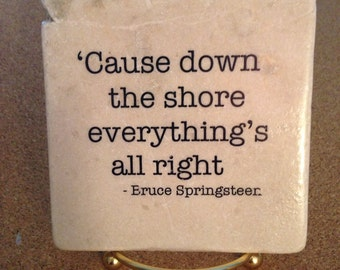 Bruce Springsteen Lyrics Decorative Tile Quote Coaster Trivet Home Or Dorm Room Decor