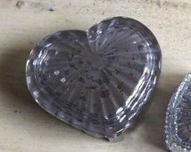 Unique glass heart dish related items etsy for Heart shaped jewelry dish