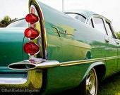 Vintage Color Pop - Classic Car Art Prints - Retro Print - Vintage Car Photography - Garage Art - Teal - Fin - Tail Light - 8x10
