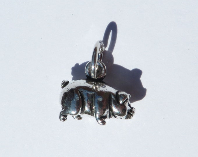 925 Genuine Silver Pig Charm - 92.5% Sterling Necklace Weddings Christening Bride Bridesmaid Flower Girl 21st sweet 16 Birthday Gift Piglet