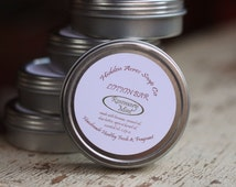 Rosemary Mint Lotion Bar - Natural - Handmade with Coconut Oil, Shea Butter, Beeswax, Apricot kernel Oil - Essential Oils