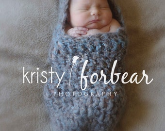 Hooded Baby Cocoon, Crochet Newborn Cocoon Assorted Colors, Newborn Pod, Photography Prop, Baby Shower Gift