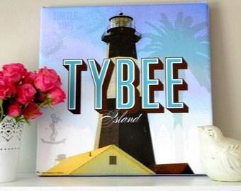 LIGHTHOUSE TYBEE ISLAND, Savannah, Georgia - Canvas Art Print