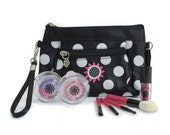 Mini-clutch Girls Pretend Cosmetics Makeup Kit and Purse - Classic Black - 100% Fake Makeup - No Color Transfer - No Mess!