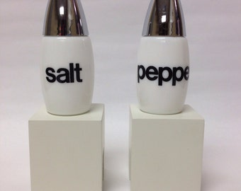 Vintage Graphics Milk Glass Salt Pepper set from Westinghouse