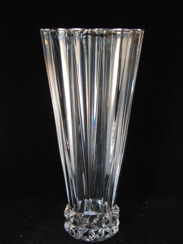 genuine lead crystal vase by rosenthal germany. Black Bedroom Furniture Sets. Home Design Ideas
