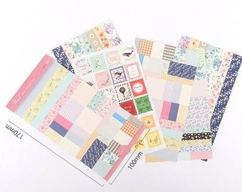 Floral Deco Sticker Set  - 8 Sheets