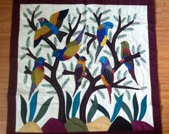 Tree of Life. Wallhanging applique art, Egyptian, Handmade (B/2)