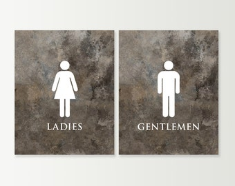 Star Wars Stormtrooper His N Hers Bathroom Signs. Bathroom Decor   Bathroom  Art Prints SET   Unique Ladies And Gentlemen Bath Wall Art