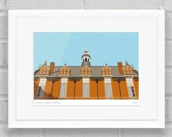Dulwich Community Hospital, London - Limited Edition Giclée Art Poster/Print