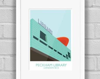 Peckham Library (Landmark), London - Giclée Art Print / Poster