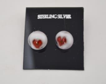 Little Hearts.  Sterling Silver Post Earrings.