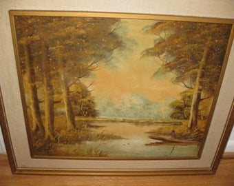 """ORIGINAL OIL PAINTING On Board Signed F Brighton 24 3/4"""" x 21"""" Measures 31"""" x 27"""" Framed"""