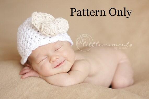 Crochet Flower Pattern For Newborn Hat : Newborn Crochet Pattern Baby Crochet Pattern Newborn Baby