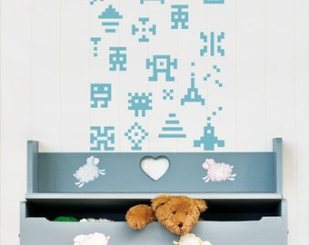 wall sticker wall decal PIXEL SET