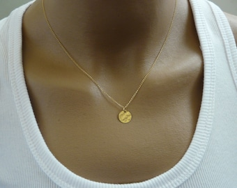 Tiny necklace, Gold Filled necklace, Delicate necklace, Simple Tiny charm necklace, Bridesmaid necklace, Minimalist