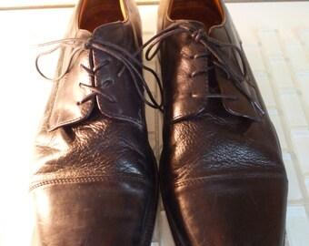 Italian Leather Oxford Italy 10 Fronto Uomo Mens Black Leather Dress Shoe Size 10