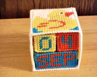 Plastic Canvas Rubber Ducky Block Calendar Perpetual