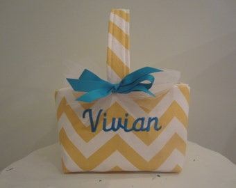 Personalized Chevron  Basket