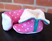 Baby Girl Shoes, Infant Shoes, Infant Boots, Baby Booties, Pink Baby Shoes