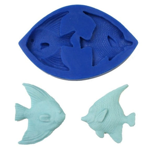 Angelfish silicone fish mold for fondant gum paste for Silicone fish molds