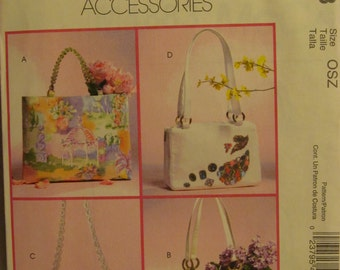 McCall's Fashion Accessories M4883 UNCUT Pattern / Handbags and Totes