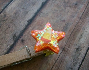 Candy Corn Inspired Hand Poured Resin Ring