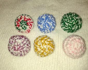 2 Crochet Cat Toy Balls Free Shipping