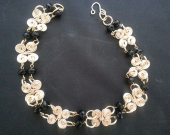 Wire beaded Necklace set
