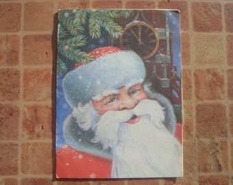 Soviet Vintage Christmas Telegram With Russian Santa Claus or Father Frost Issued in USSR in 1983