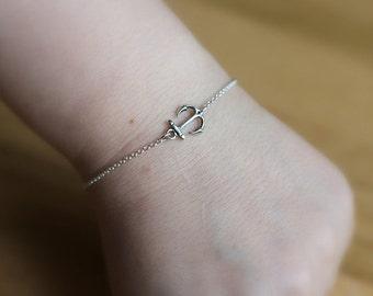 Anchor Bracelet, Silver Anchor Bracelet, Sterling Silver Anchor Bracelet, Nautical Jewelry, Ocean Jewelry, Beach Jewelry, Bridesmaid Jewelry