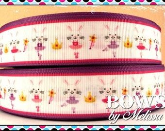"1"" Ballerina Bunny Ribbon 5 Yards"