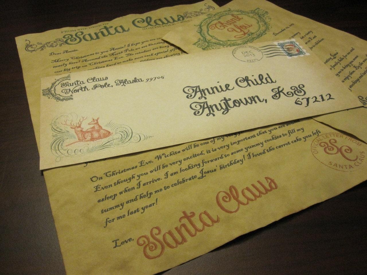 Generic Letter From Santa Santa Letter From Santa Claus On Vintage Paper Generic Santa