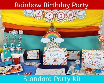 Rainbow Birthday Party / Rainbow Party /  Rainbow Decoration / STANDARD Party Kit