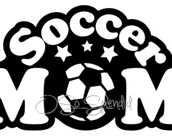 Soccer Mom Digital File - Vector Graphic - Personal Use, Commercial Available - svg, ai, png, pdf -  Cutting File, ClipArt, Embroidery