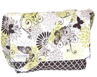 NEW Black Butterfly Camera and Messenger Bag