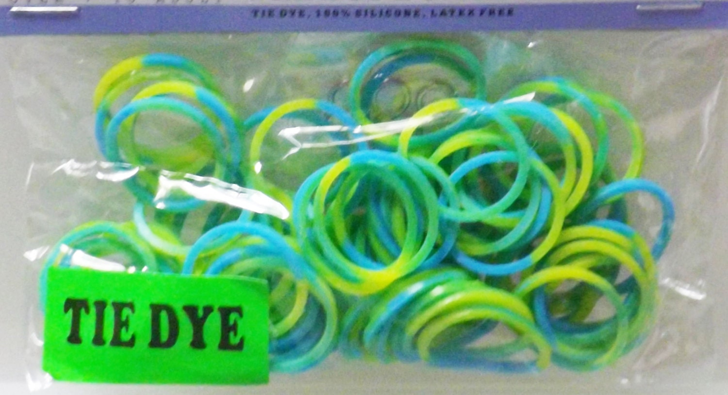 Tie Dye Loom Rubber Bands 100 Count Rubberbands And 4 S Clips