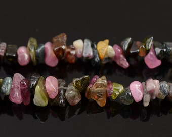 Natural Tourmaline chips bead 5-8mm,35 inches full strand,1 strand