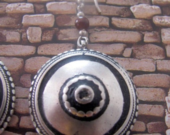 Old Yemeni Silver Bedouin Earrings.